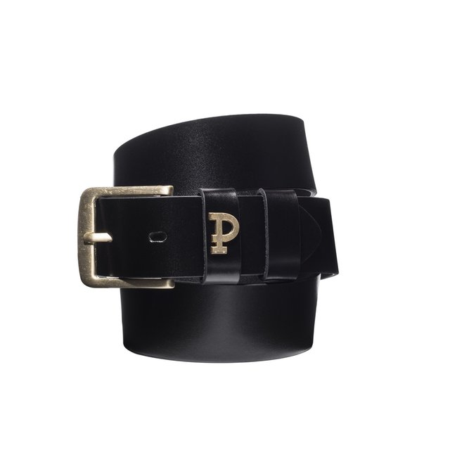 P LEATHERBELT PIN BLACK BLACK