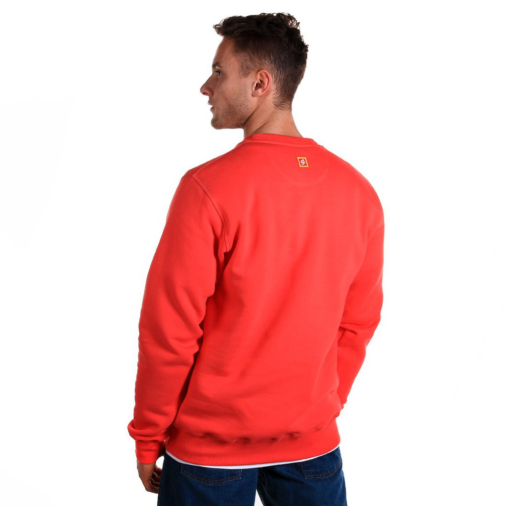 SWEATSHIRT BL STAIRS RUBY RED