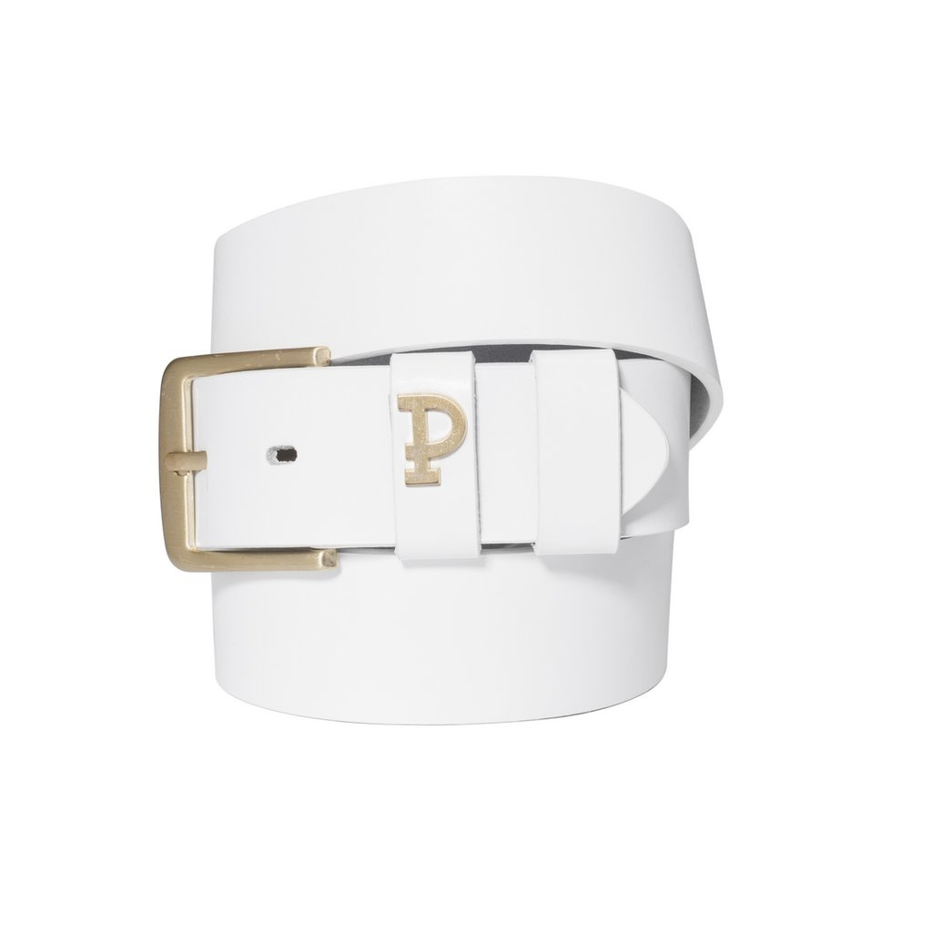 P LEATHERBELT PIN WHITE WHITE