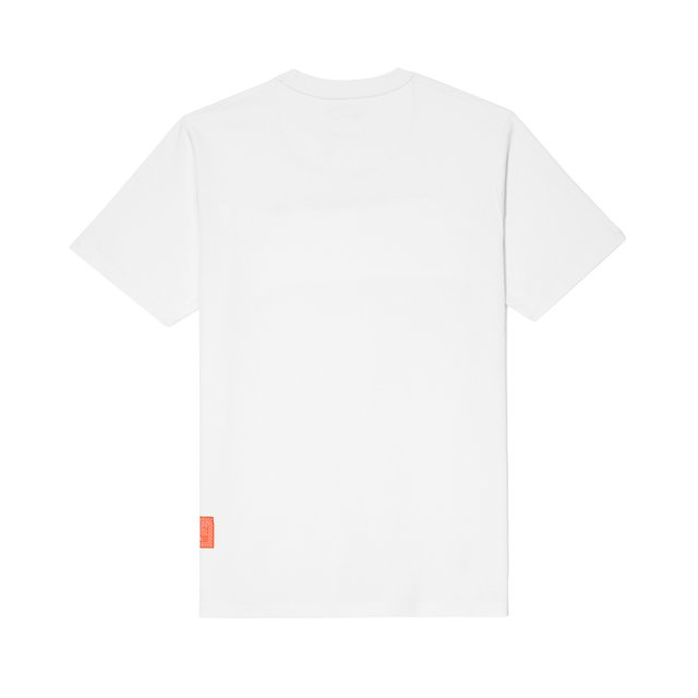 POSTCARD T-SHIRT SCRIP WHITE