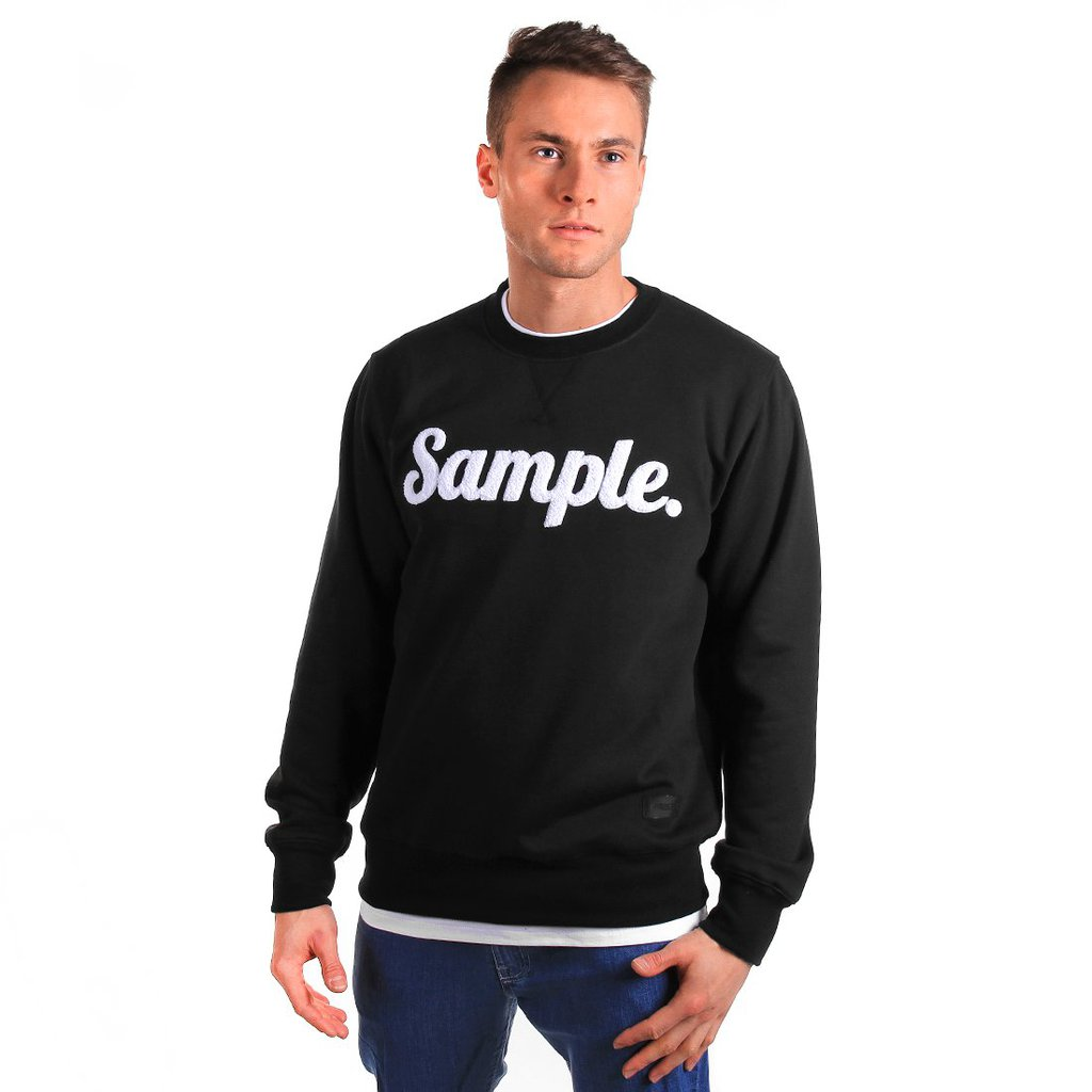 SWEATSHIRT SAMPLE BLACK
