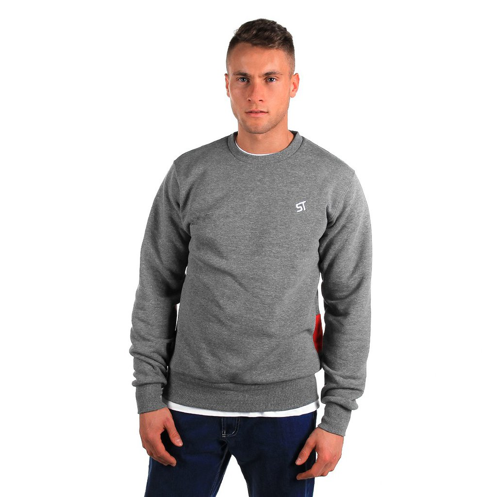SWEATSHIRT BASIC BACKLIP MEDIUM HEATHER GREY