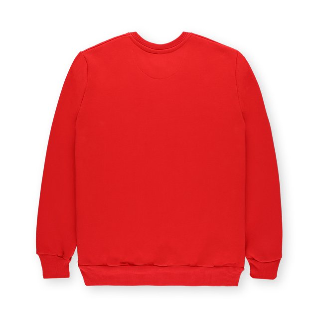 CREWNECK TWOVIEW RED