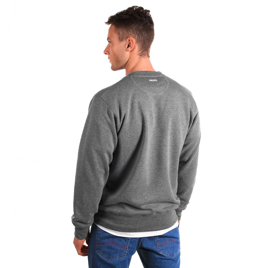 SWEATSHIRT SAMPLE MEDIUM HEATHER GREY