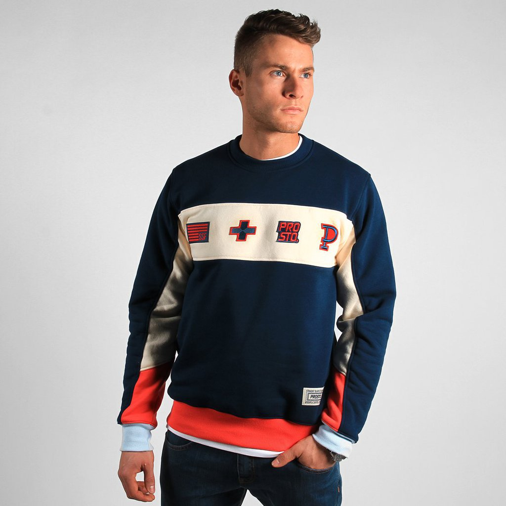 SWEATSHIRT THROUGH NAVY
