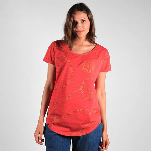 F.KL TEE THORN RED HEATHER