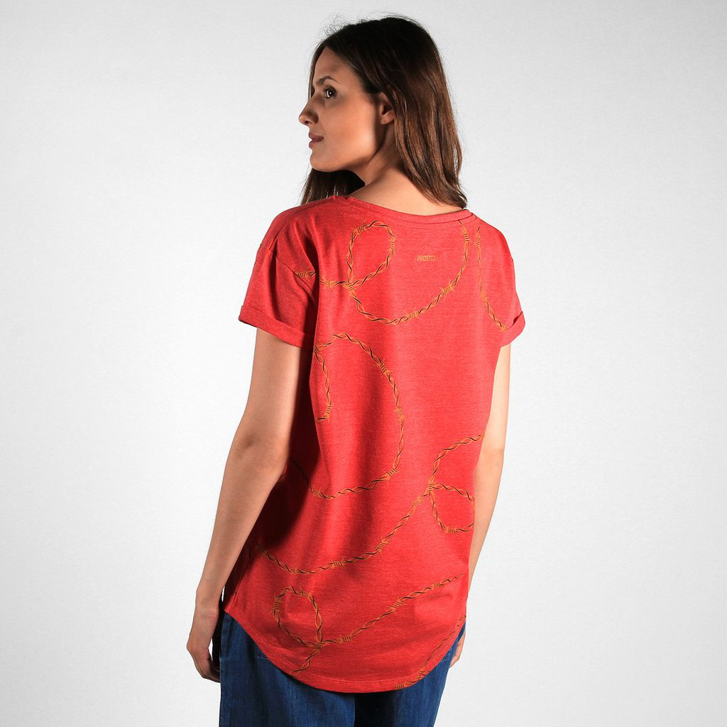 TEE THORN RED HEATHER