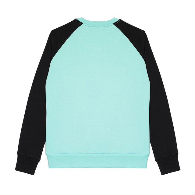CREWNECK POST MINT/BLACK