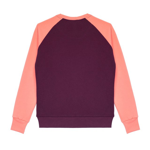 CREWNECK POST VIOLET/LIGHT PINK