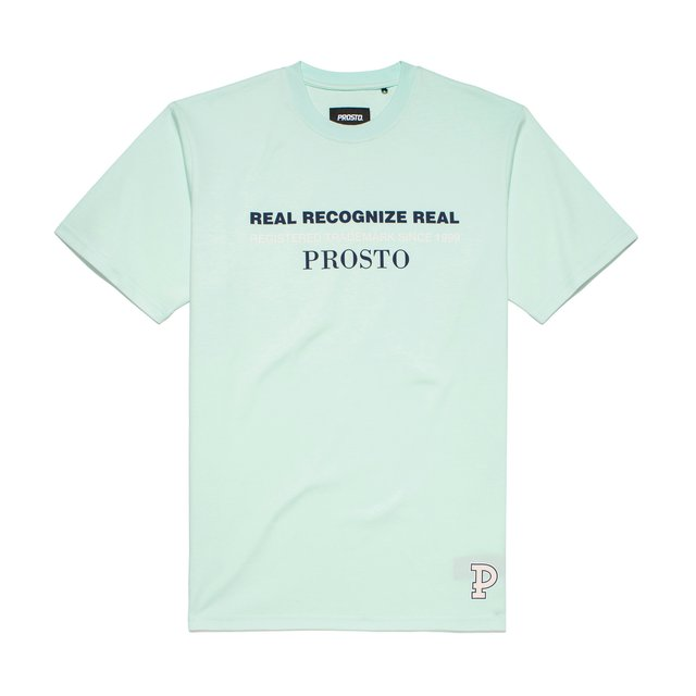 T-SHIRT REAL RECOGNIZE LIGHT BLUE