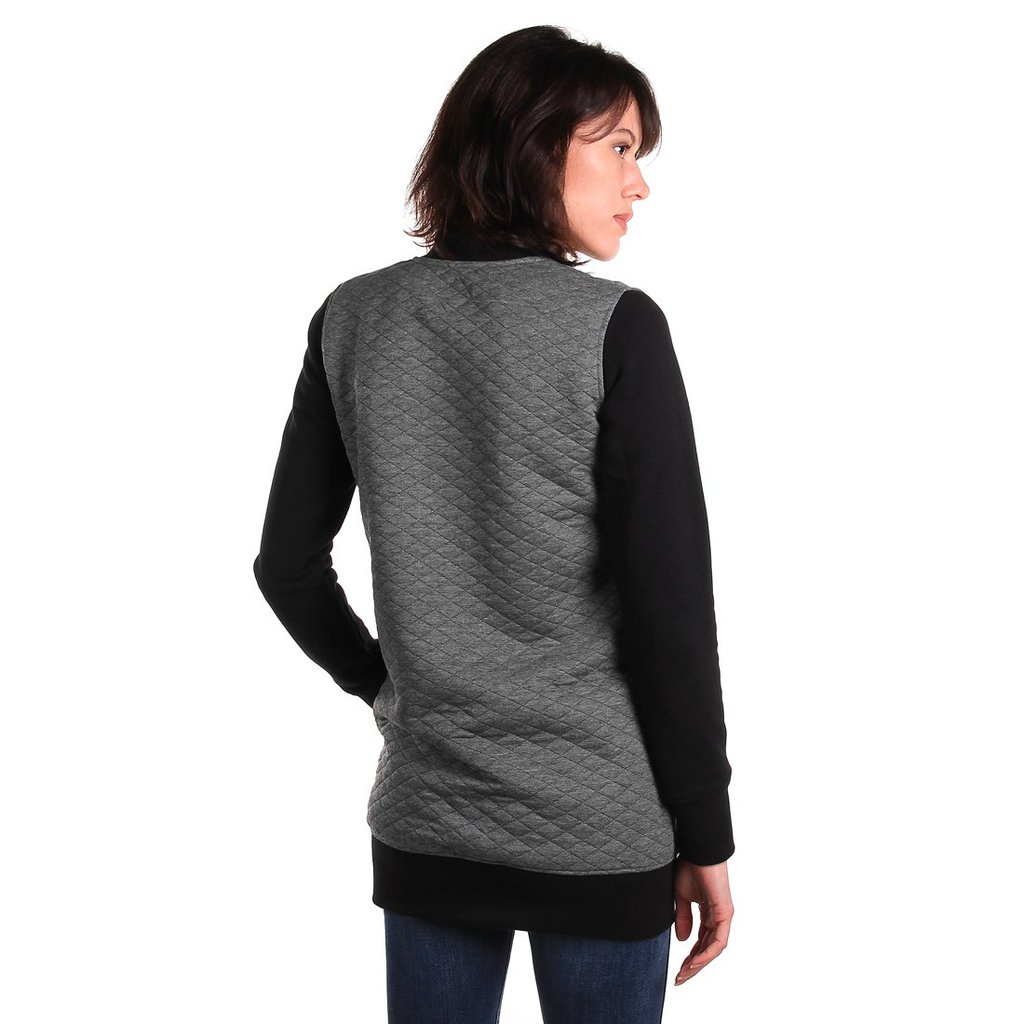 ZIPSWEATSHIRT PICK MEDIUM HEATHER GREY