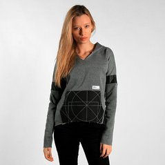 F.EL HOODIE GEOMETRY MEDIUM HEATHER GREY