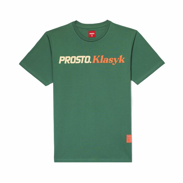 POSTCARD T-SHIRT SCRIP GREEN