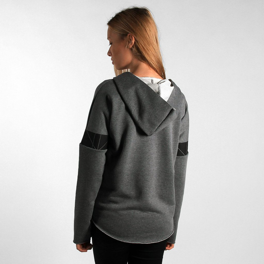 HOODIE GEOMETRY MEDIUM HEATHER GREY
