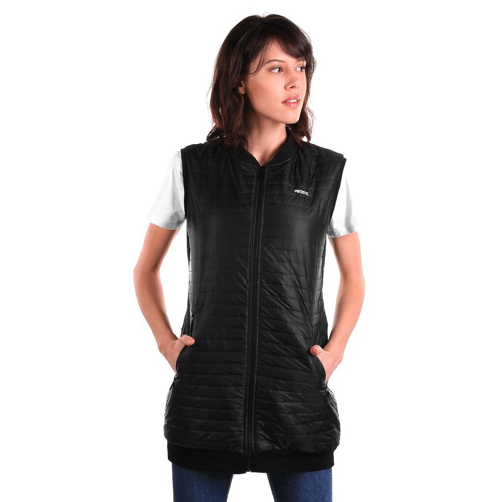 VEST FEATHER BLACK