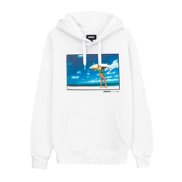 "JD. LORIEUX ""TRIFFIE"" ONE HOODIE WHITE"