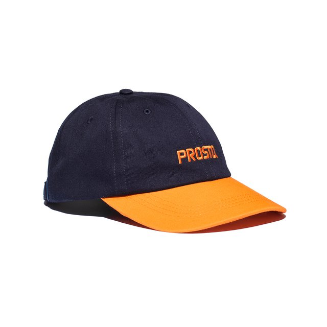 6PANEL HUEY DARK BLUE/ORANGE