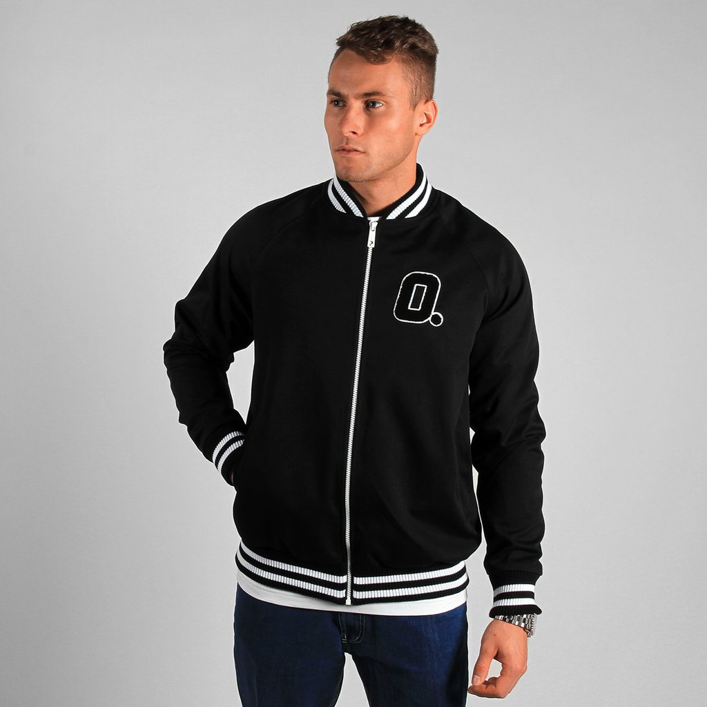 BASEBALL JACKET STATE BLACK