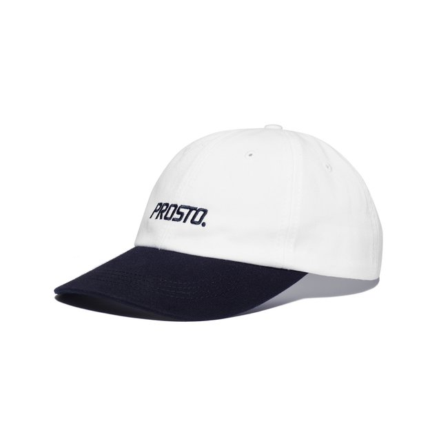 6PANEL HUEY WHITE/DARK BLUE