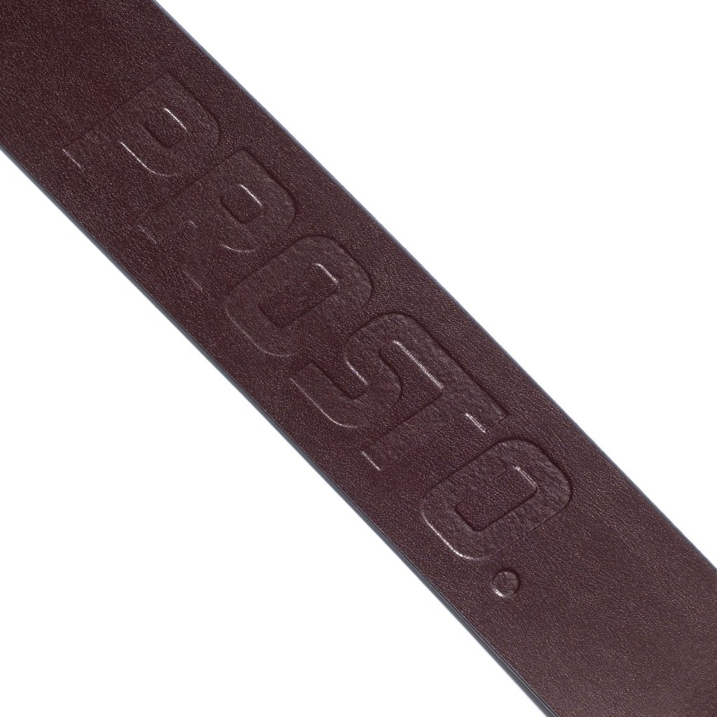 LEATHER LOGO BROWN