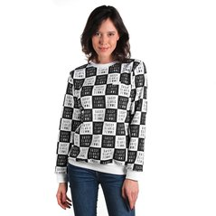 F.KL SWEATSHIRT CHECKER WHITE