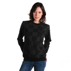 F.KL SWEATSHIRT CHECKER BLACK