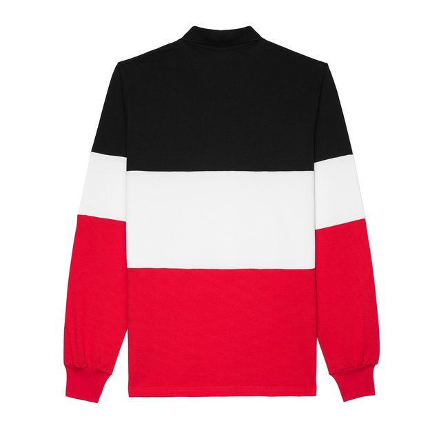 LONGSLEEVE POLO MALLE BLACK/RED