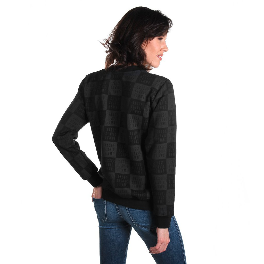 SWEATSHIRT CHECKER BLACK