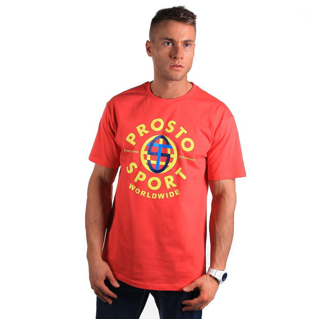 T-SHIRT GLOBALLY RUBY RED