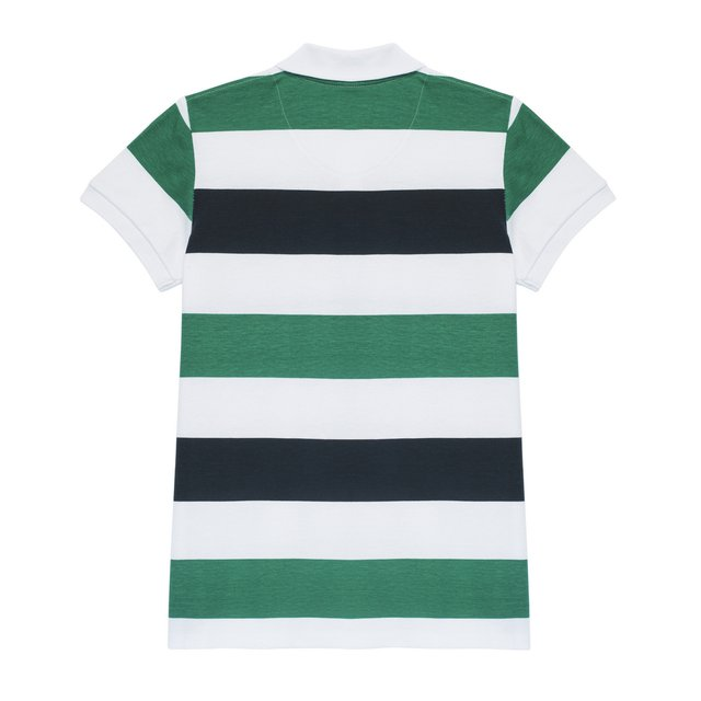 T-SHIRT POLO ZEBRA SPRING GREEN
