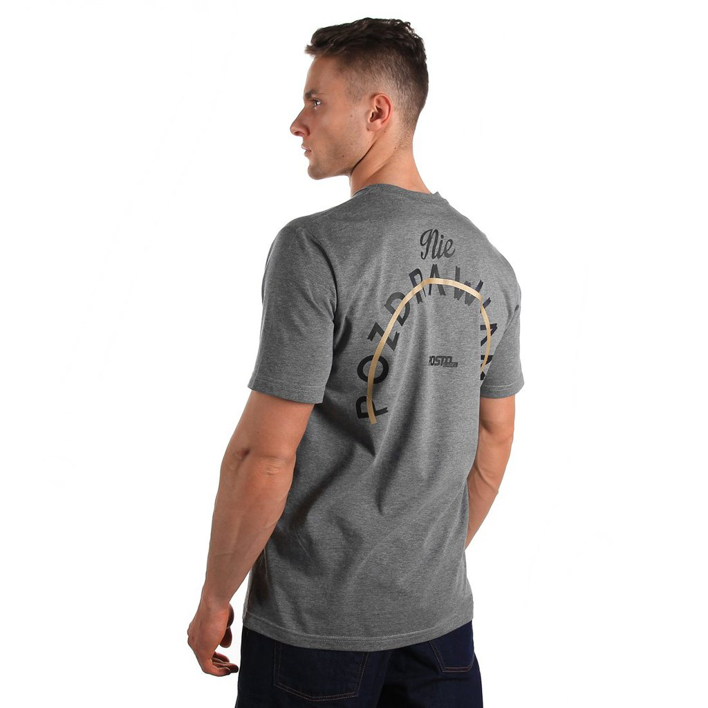 T-SHIRT POZDRAWIAMY MEDIUM HEATHER GREY