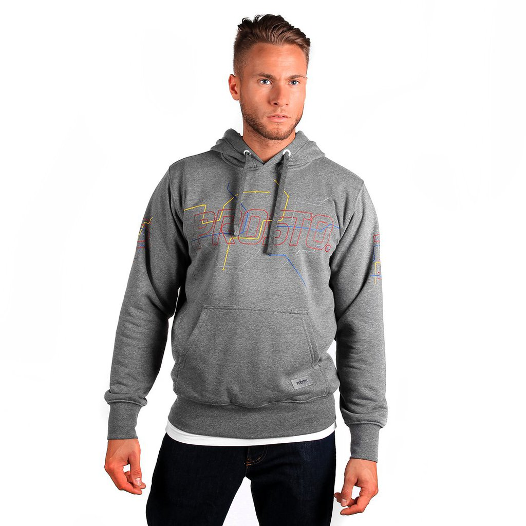 HOODY METRO MEDIUM HEATHER GREY