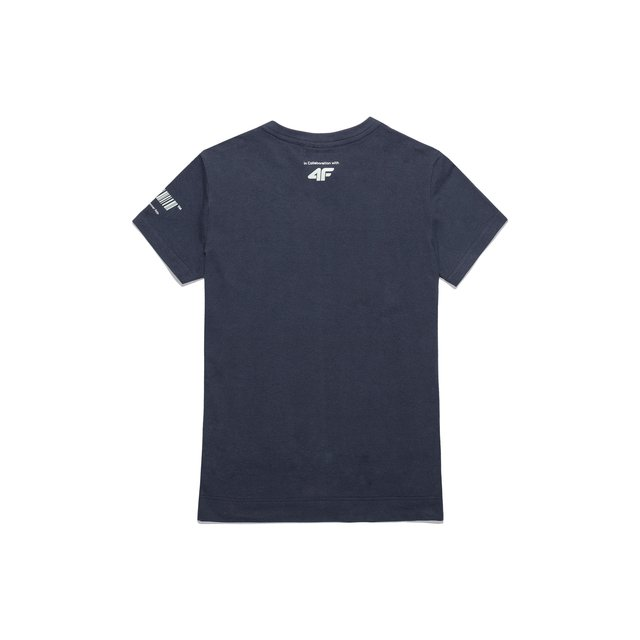 4F X PROSTO WMN T-SHIRT COTTON NAVY