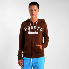 F.ST ZIPHOODIE ARC BROWN