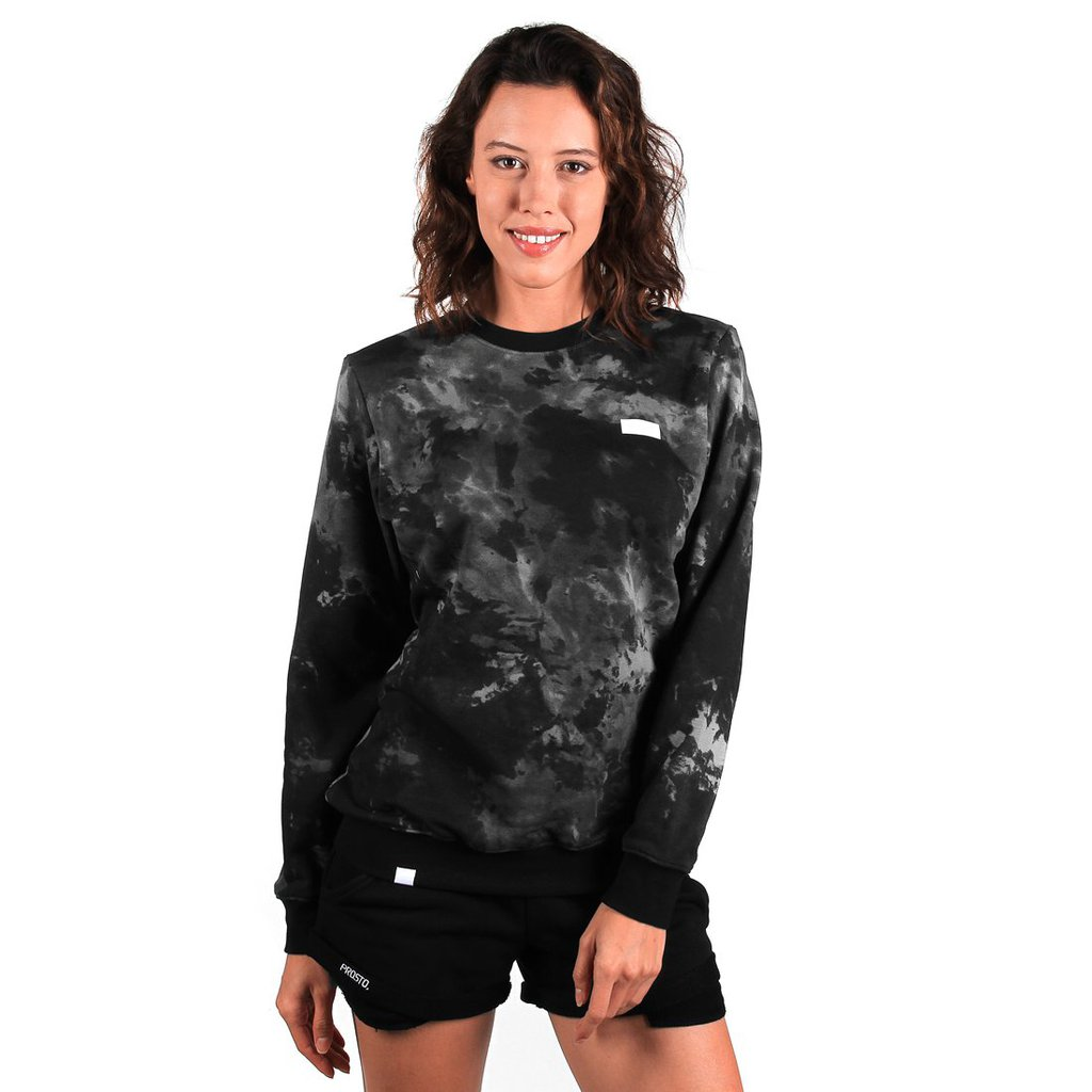SWEATSHIRT TIEDYE GREY