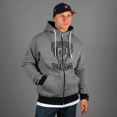ZIP HOODY CUP M HEATHER GRAY