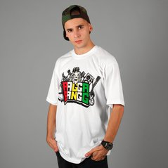 LA T-SHIRT LABEL RAGGA BANG WHITE