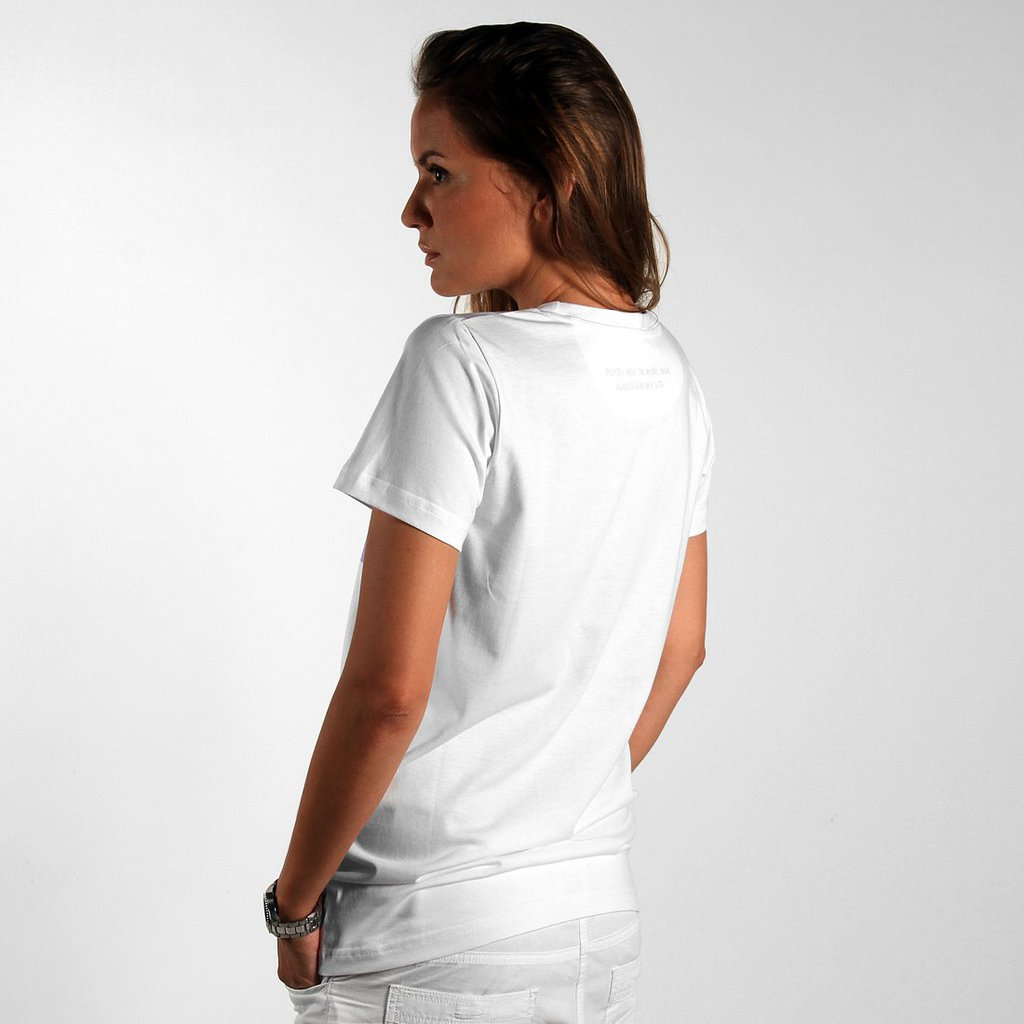 T-SHIRT F. CBM BORDERLINE WHITE