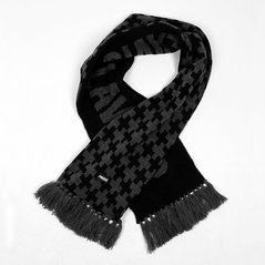KL SCARF SSF GREY-BLACK