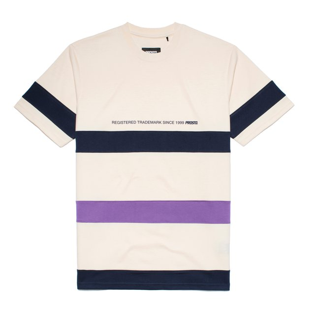 T-SHIRT STRIPES REGISTERED CREAM