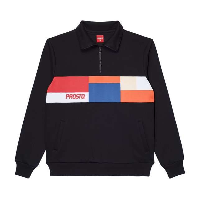 ZIP CREWNECK HAUS BLACK