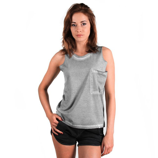TANKTOP WASHED DARK GREY