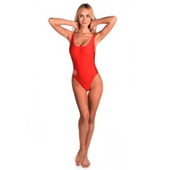 F.KL SWIMSUIT CUT RED