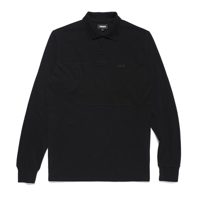 LONG POLO AUCKLAND BLACK