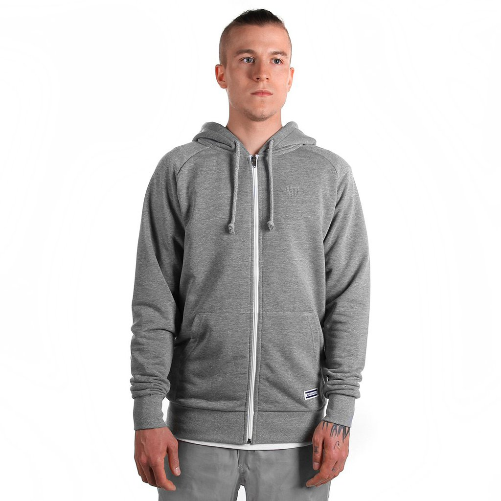 ZIPHOODY TONE MEDIUM HEATHER GREY