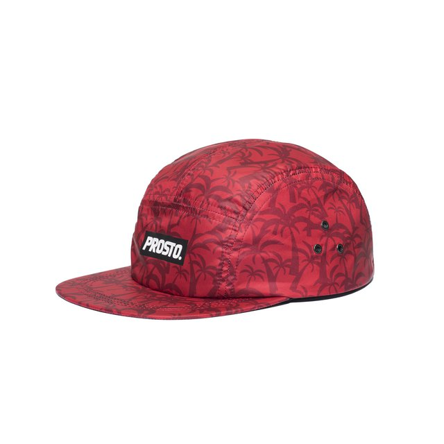 5PANEL CAP ATHENS RED