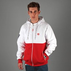 ST ZIP HOODY ASYMMETRY WHITE