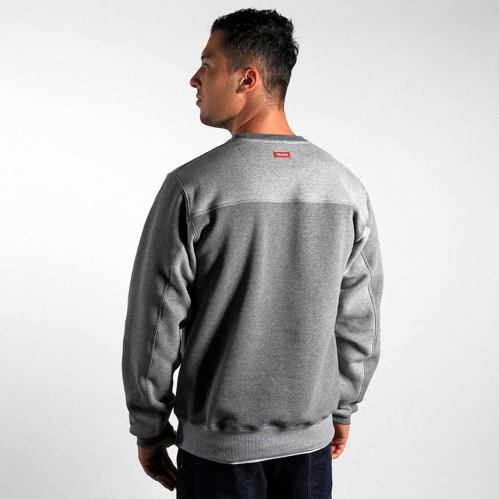 SWEATSHIRT BEHIND MEDIUM HEATHER GREY