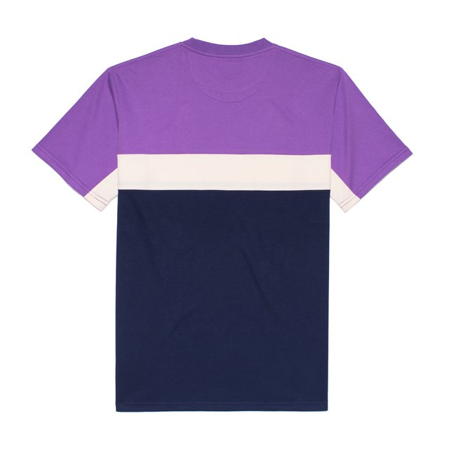 T-SHIRT NICE GAME VIOLET/NAVY