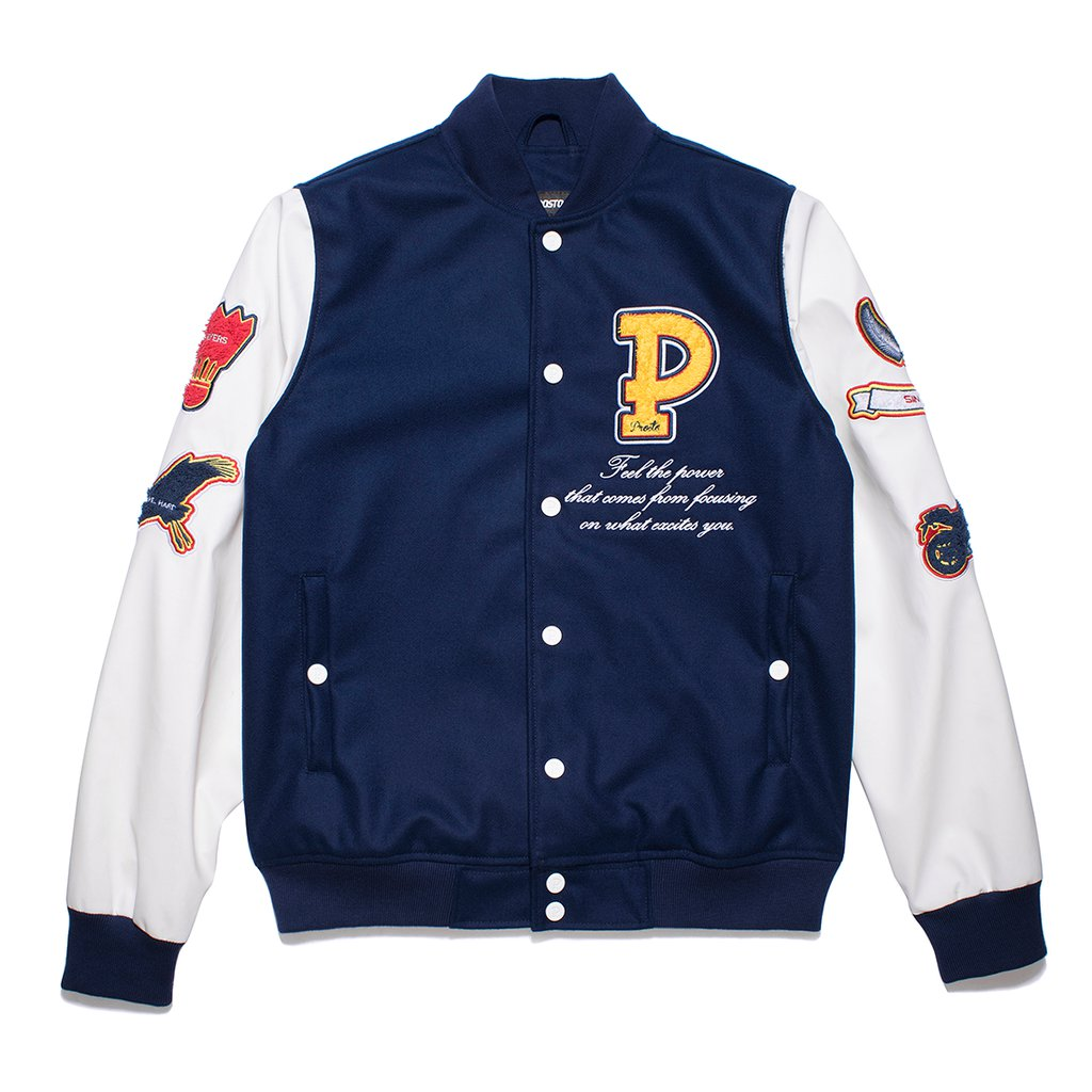 BASEBALL JACKET FRESH VISION NAVY